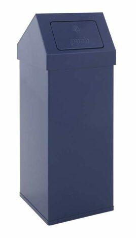 Aluminium Abfallbehälter mit Pushdeckel.