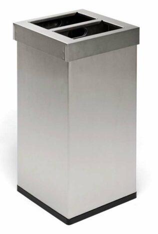 Feuerfester Abfallbehälter 110 Liter aus Edelstahl