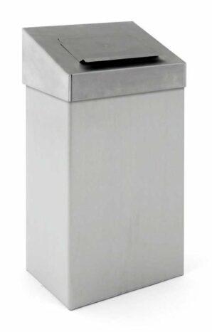 Abfallbehälter 18 Liter in edelstahl-matt