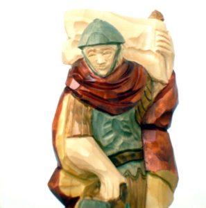 Der Heiliger Florian aus Lindenholz